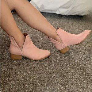 Jeffrey Campbell blush pink Muskrat ankle boots